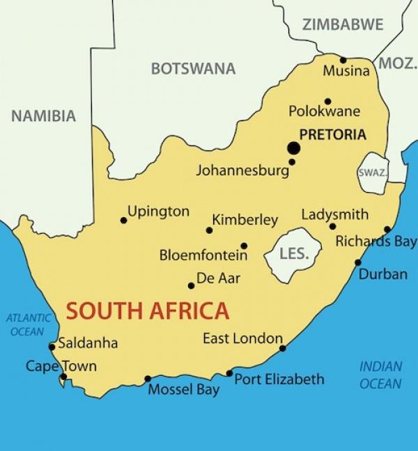 خريطة جنوب افريقيا