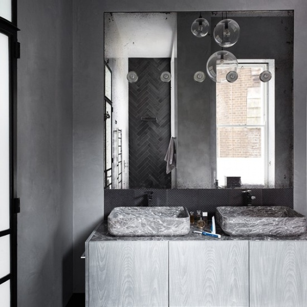 Black Gray Bathroom Ideas: 11 تصميم متميز من تصاميم الحمامات المودرن باللون الرمادى
