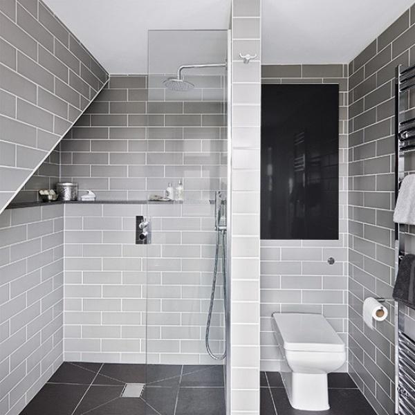 11 تصميم متميز من تصاميم الحمامات المودرن باللون الرمادى نورليك
