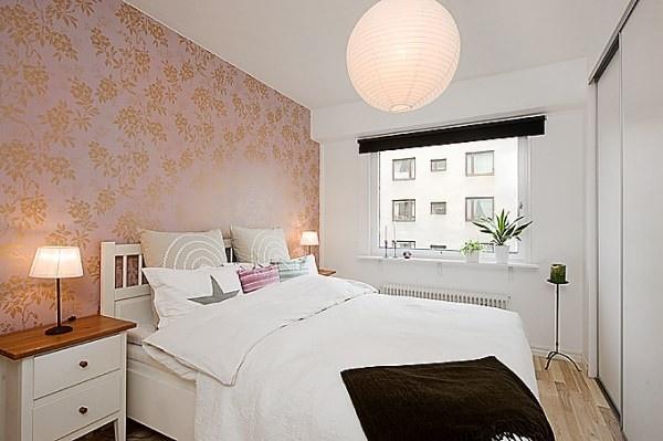 ورق جدران فاخر فى غرف النوم الصغيرة