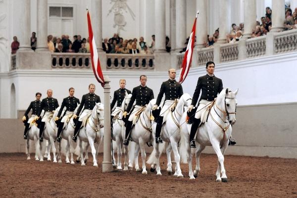 مدرسة الفروسية الإسبانية من اهم الاماكن السياحية في فيينا
