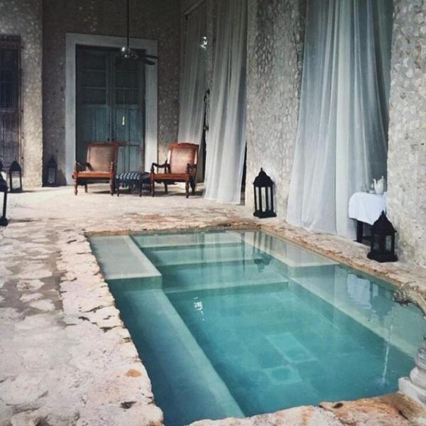 الحديقة المنزلية الصغيرة صور: اجمل تصاميم حمامات السباحة للحدائق المنزلية الصغيرة