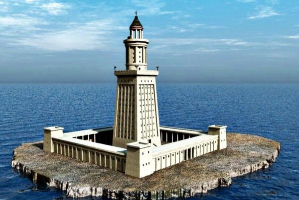 من عجائب الدنيا السبع القديمة منارة الاسكندرية